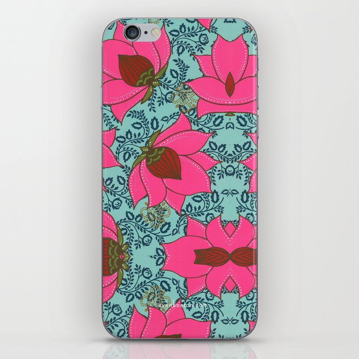 Pink Floral Pattern iPhone Skin