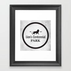 Lion's Centennial Park Framed Art Print