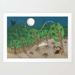 The little big forest Art Print