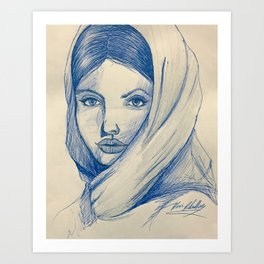 Beautiful Woman Art Print