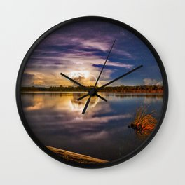 Lightening and Stars - a perfect combination Wall Clock