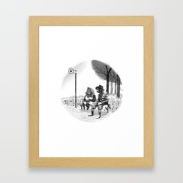 Dog Stop Framed Art Print
