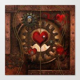 Steampunk, awesome steampunk heart Canvas Print
