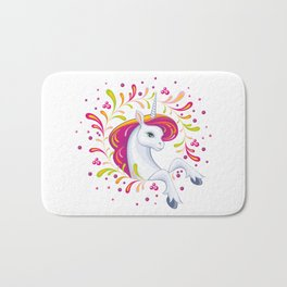 beautiful unicorn Bath Mat