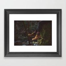 Footwork Framed Art Print