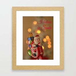 I believe in Santa Framed Art Print
