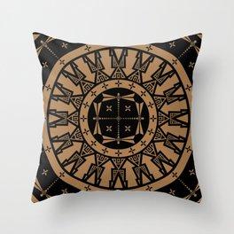 Ancestors (Black Brown) Throw Pillow