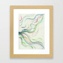 Bird waterfall fun Framed Art Print