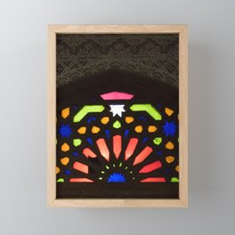 Ray of Light - Moroccan Stained Glass Framed Mini Art Print