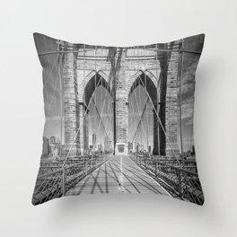 NEW YORK CITY Brooklyn Bridge Throw Pillow