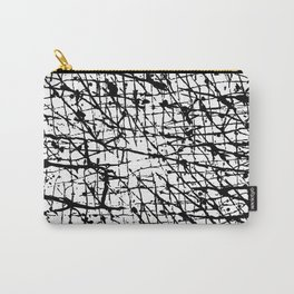 Black and White: Crisscross Carry-All Pouch