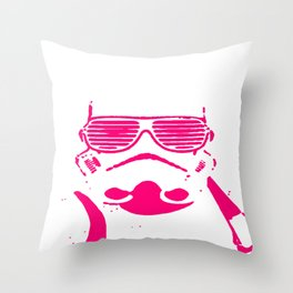 Pink Trooper Throw Pillow