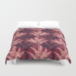 Burgundy Jungle #society6 #Burgundy #pattern Duvet Cover