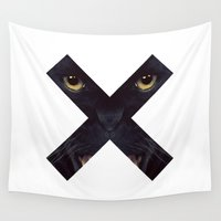panther Wall Tapestries featuring Black Panther by Zavu