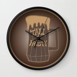 Tall and Frosty Wall Clock
