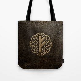 Fehu Rune Ancient Metal Embossed Amulet Tote Bag