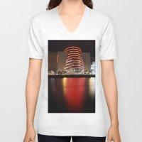 dublin V-neck T-shirts featuring Dublin Convention Centre by Ciaran Mcg