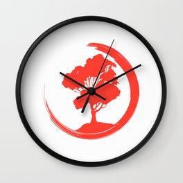 Enso Circle Of Enlightenment Tshirt Yin And Yang Bonsai T-Shirt Wall Clock