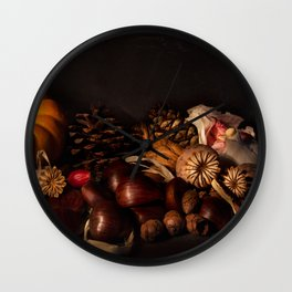 Halloween Harvest Wall Clock