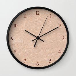 Ecru canvas cloth texture abstract Wall Clock