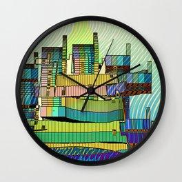 LIVING in MARS / Building 06-07-16 Wall Clock