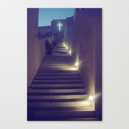 Greek Church at Dusk Canvas Print