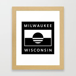 Milwaukee Wisconsin - Black - People's Flag of Milwaukee Framed Art Print