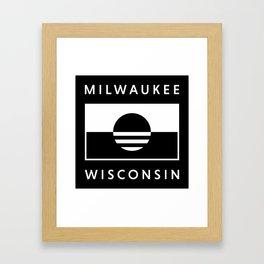 Milwaukee Wisconsin - Black - People's Flag of Milwaukee Framed Art Print