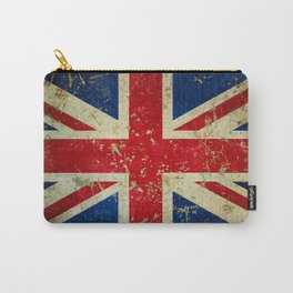 Grunge Scratched Metal Union Jack / British Flag Carry-All Pouch
