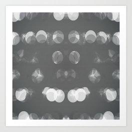 Grey Bubbles Art Print