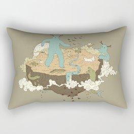 Frog Rain Rectangular Pillow