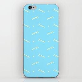 Sky blue yellow geometrical doodle zentangle pattern iPhone Skin