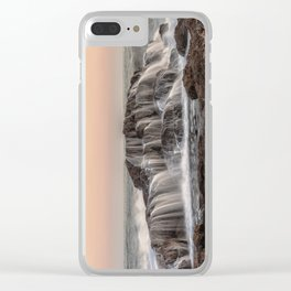 Crashed Wave Clear iPhone Case