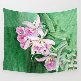 Orchid Cascade Wall Tapestry