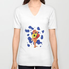Girl in the Heat of Summer with a BEer Unisex V-Neck