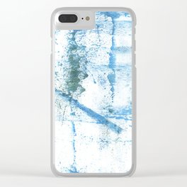 Sky blue abstract Clear iPhone Case