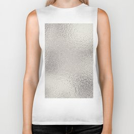 Simply Metallic in Silver Biker Tank