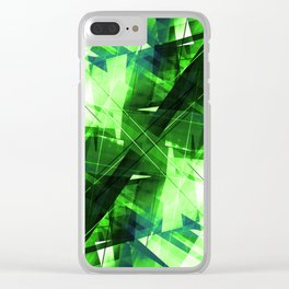 Elemental - Geometric Abstract Art Clear iPhone Case