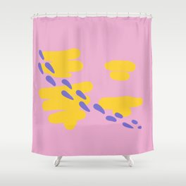 Coral Series: Table Shower Curtain