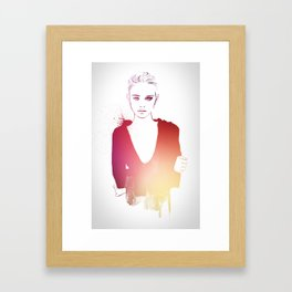 don't you ever look at me this way Framed Art Print