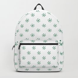 Cadmium Green on White Snowflakes Backpack