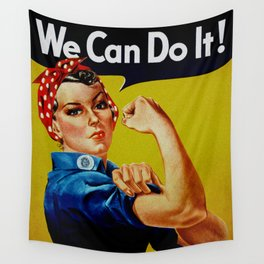 We Can Do It - WWII Poster Wall Tapestry