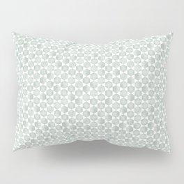Gray Green and White Hexagonal Block Print Pattern Pillow Sham