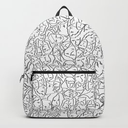 Call Me By Your Name Elios Shirt Faces in Faded Outlines on White CMBYN Backpack