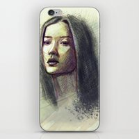 asian iPhone & iPod Skins featuring Asian girl by Ludovic Pinelli