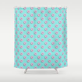 Memphis Polka Hoops Shower Curtain
