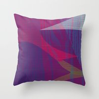 reassurance Throw Pillows featuring Feel the texture II by Magdalena Hristova