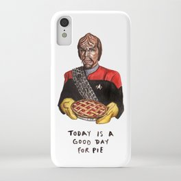 Worf - Today Is A Good Day for Pie iPhone Case