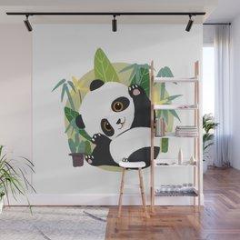 Panda Cartoon Wall Mural