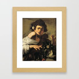 Boy Bitten by a Lizard by Michelangelo Merisi da Caravaggio Framed Art Print